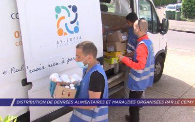 Distribution de denrées alimentaires et maraudes organisées par le CEIMY